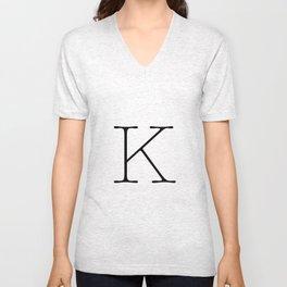 Letter K Typewriting Unisex V-Neck