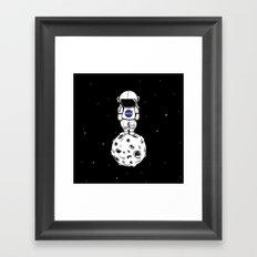 rolling in space Framed Art Print