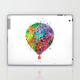 Hot Air Balloon Print Watercolor Vintage Hot Air Balloon Poster Laptop & iPad Skin