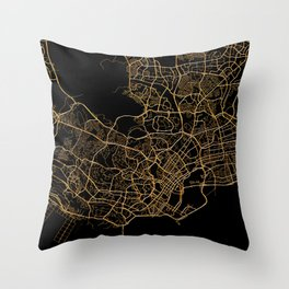 Singapore map Throw Pillow