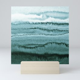 WITHIN THE TIDES - OCEAN TEAL Mini Art Print