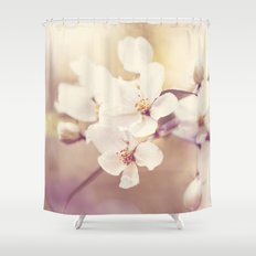 Pastel Apple Bloom Shower Curtain