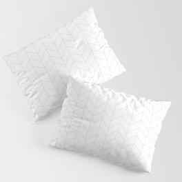 Herringbone Black and White Pillow Sham