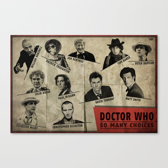 So Many Choices (Doctor Who) Canvas Print