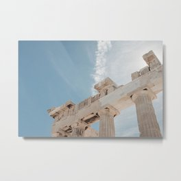 Summer in Athens - travel photography Greece - clean tones Europe fine art - Parthenon of Acropolis Metal Print