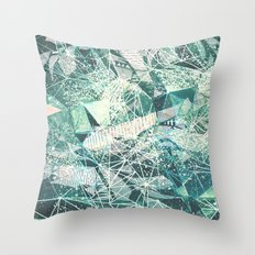 emerald space Throw Pillow