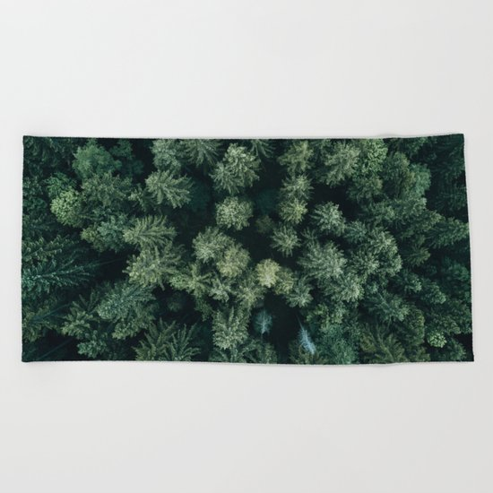 Forest from above - Landscape Photography Beach Towel