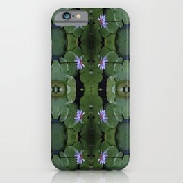 Water Lily Pattern iPhone Case