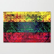 circuit board  lithuania (flag) Canvas Print