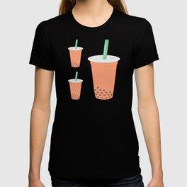 Thai Milk Bubble Tea Pattern T-shirt