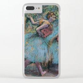 Edgar Degas - Three Dancers (Blue Tutus, Red Bodices) Clear iPhone Case