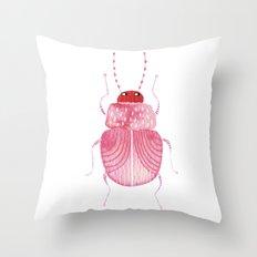 Sarcastic Beetle Throw Pillow