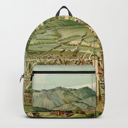 Vintage Colorado Springs and Pikes Peak Map (1890) Backpack