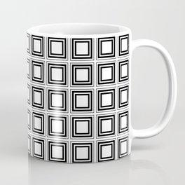 SQUARES RETRO WHITE AND BLACK Coffee Mug