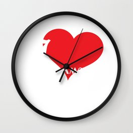 Funny Description Immature Tshirt Design I love being Immature Wall Clock