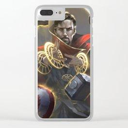 Stephen Strange Clear iPhone Case