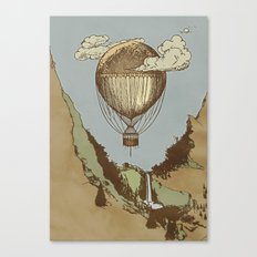Around the world the incredible Steamballoon Canvas Print