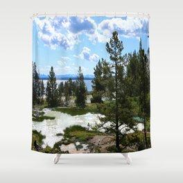 West Thumb Yellowstone Lake Shower Curtain