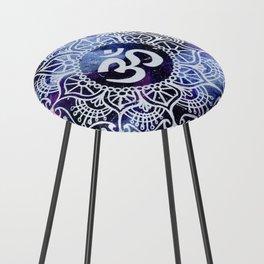 Om Galaxy Mandala Counter Stool