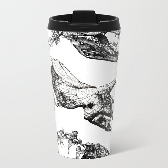 Jurassic Bloom. Metal Travel Mug
