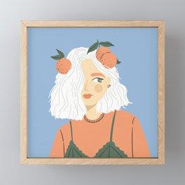 Clementine Girl Framed Mini Art Print
