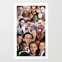 Tom Hiddleston/Loki Collage Art Print