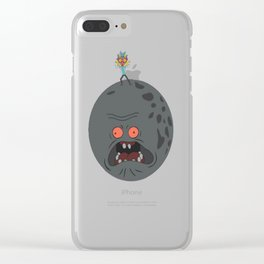 Majorty_s Mask T-Shirt Clear iPhone Case
