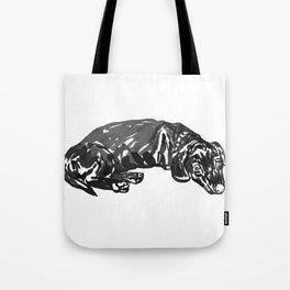 Dacshund dosing -1 Tote Bag
