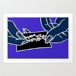 The Elements_Earth (Blue) Art Print