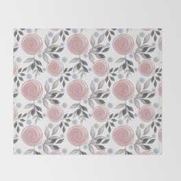 Delicate floral pattern. Throw Blanket