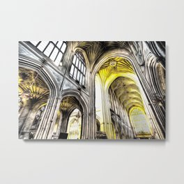 Bath Abbey Art Metal Print