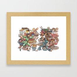 Clash of Food Cultures Framed Art Print