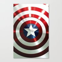 steve rogers Canvas Prints featuring Captain Steve Rogers Shields  by neutrone