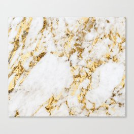 Luxe bright golden Canvas Print