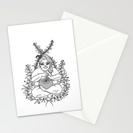 Fat Witchy Stationery Cards