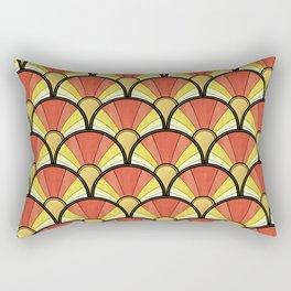 Radiant Sunshine Art Deco Pattern Rectangular Pillow