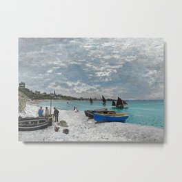 The Beach at Sainte-Adresse by Claude Monet, 1867 Metal Print
