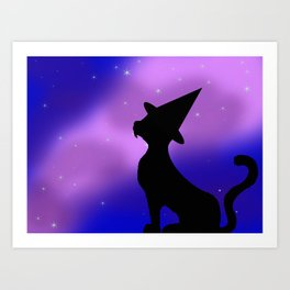 Cat-Witch Art Print