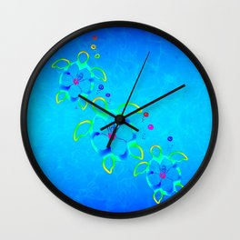 3 Tie Dyed Honu Turtles Wall Clock