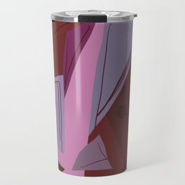 Cages at the Border Burgundy Tones #Abstract #Geometric #PoliticalArt Travel Mug