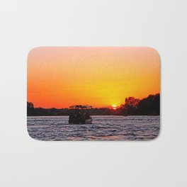 Sunset River Cruise in Africa Bath Mat