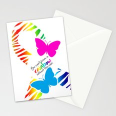 You can't have a Rainbow without the Rain - Awareness Ribbon - Commissioned Work Stationery Cards