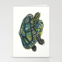turtle Stationery Cards featuring Turtle by Aina Serratosa