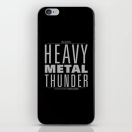 HEAVY METAL THUNDER iPhone Skin