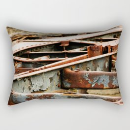 Rusted Tracks Rectangular Pillow