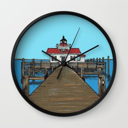Roanoke Island Lighthouse Wall Clock