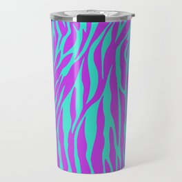 Purple and Green Zebra print Travel Mug