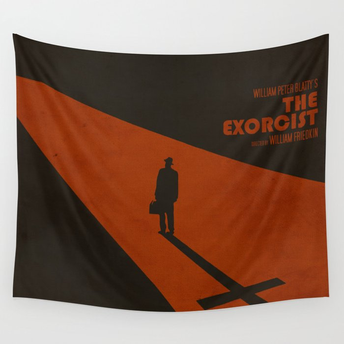 The Exorcist Inspired Vintage Movie Poster Wall Tapestry