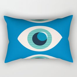 Watching You-Blue Rectangular Pillow