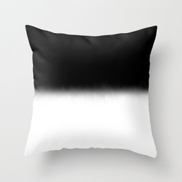 Black and White Split Fade Inverse Throw Pillow